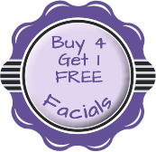 Buy 4 get one free special for facials